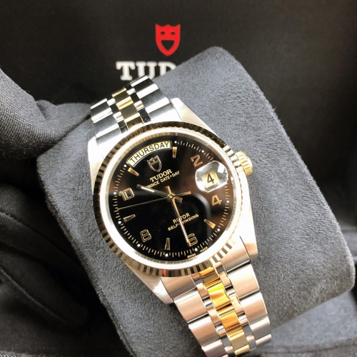 Tudor Prince Date Day 36mm Steel-Yellow Gold Black Dial Automatic M76213-0012