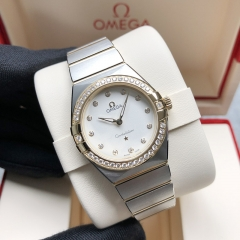 OMEGA Constellation Steel-Yellow Gold 28MM White Dial Quartz 131.25.28.60.52.002