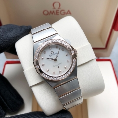 OMEGA Constellation Steel-Rose Gold 25MM Silver Dial Quartz 131.25.25.60.55.001