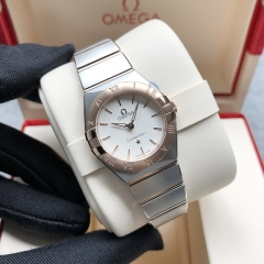OMEGA Constellation Steel-Rose Gold 25MM Silver Dial Quarz 131.20.25.60.02.001