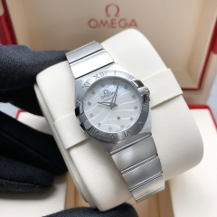 OMEGA Constellation Stainless Steel  24MM White Dial Quarz 123.10.24.60.55.003