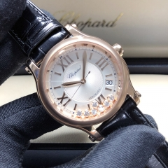 Chopard Happy Sport Happy Sport 36mm 18K Rose Gold Silver Dial Automatic 274808-5001