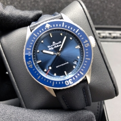Blancpain Fifty Fathoms 38MM Stainless Steel Blue Dial Automatic 5100-1140-O52A