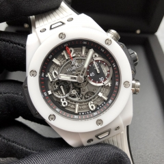 Hublot Big Bang Unico 45mm White Ceramic Mat Black Skeleton Dial Automatic 411.HX.1170.RX