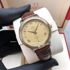 OMEGA De Ville Steel-Yellow Gold 33mm Champagne Silk Dial Automatic 424.23.33.20.58.001