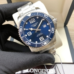 LONGINES Hydroconquest Stainless Steel 43MM Sunray Blue Dial Automatic L3.782.4.96.6