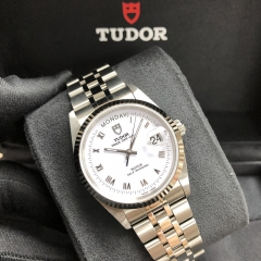 TUDOR Prince Date Day Steel-White Gold 36MM White Dial 76214-0013