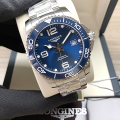 LONGINES Hydroconquest Stainless Steel 41MM Sunray Blue Dial Automatic L3.781.4.96.6