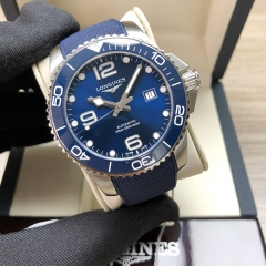 LONGINES Hydroconquest Stainless Steel 43MM Sunray Blue Dial Automatic L3.782.4.96.9