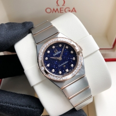 OMEGA Constellation Steel-Rose Gold 25mm Blue Dial Quartz 131.25.25.60.53.002