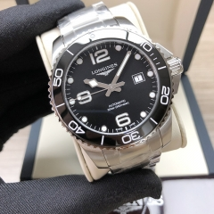 LONGINES Hydroconquest Stainless Steel 43MM Black Dial Automatic L3.782.4.56.6