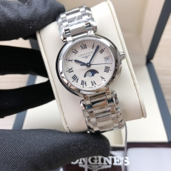 LONGINES Primaluna Stainless Steel 30MM White Dial Quarts L8.115.4.71.6